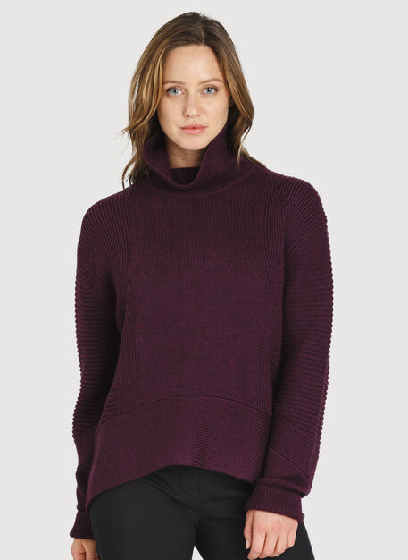 Ash Turtleneck, HTHR Plum Wine | Kit and Ace