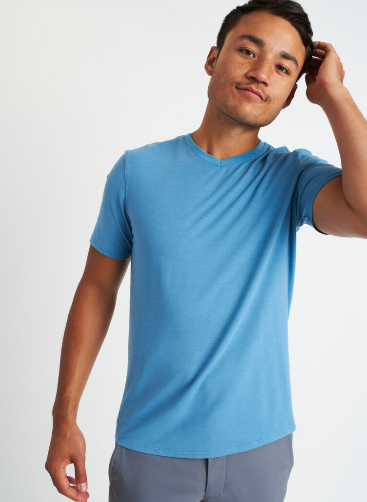 Ace V-Neck Tee, Niagara | Kit and Ace