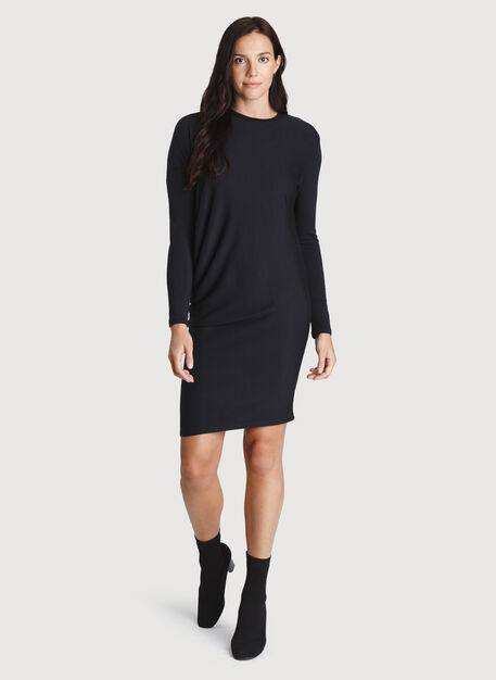Wave Long Sleeve Dress, Black | Kit and Ace