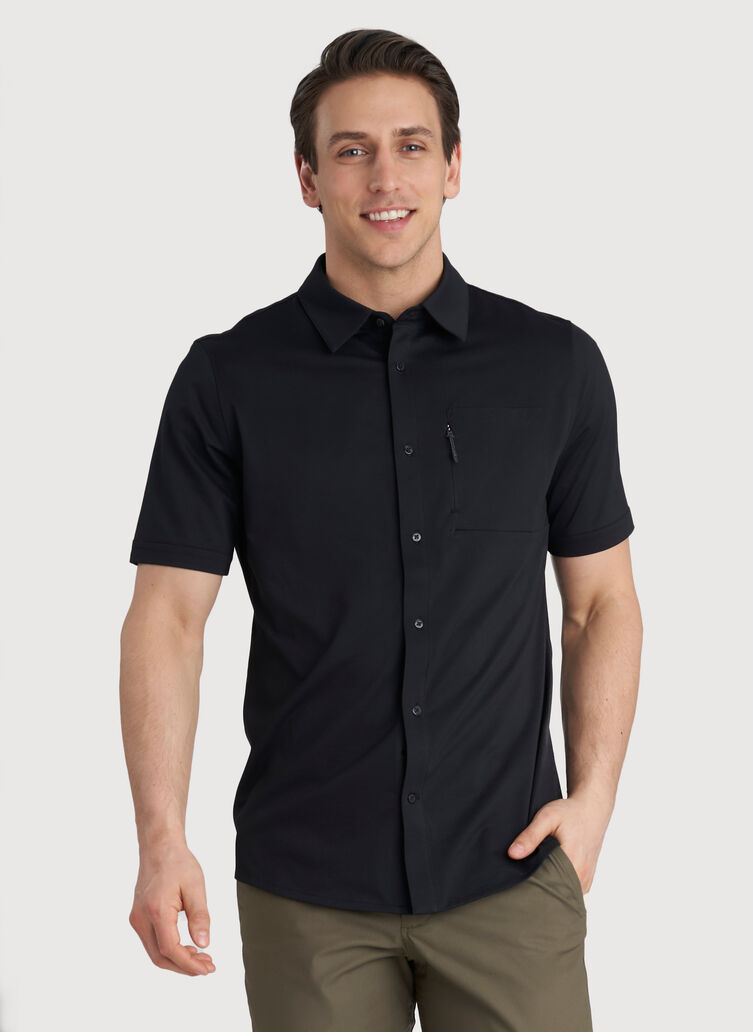 Geared Up Short Sleeve Shirt, Black | Kit and Ace
