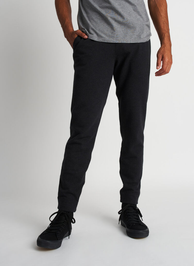 West Coast Sweatpants, Heather Black | Kit and Ace