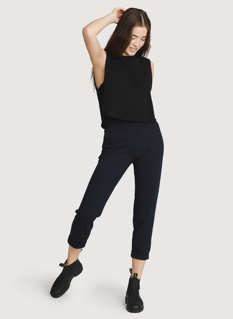 Mulberry Pant, HTHR DK Navy   Kit and Ace