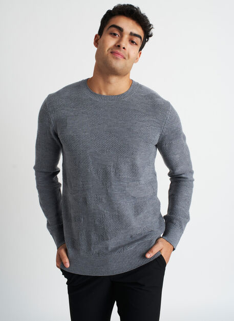 Hideaway Merino Sweater, Heather Grey | Kit and Ace