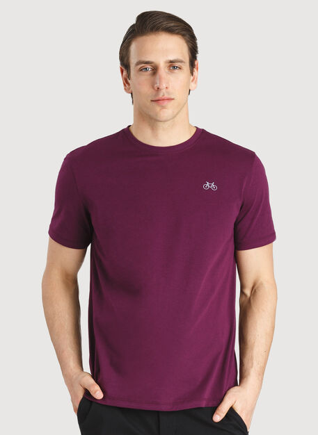 Motion Crew Tee, Dark Plum | Kit and Ace