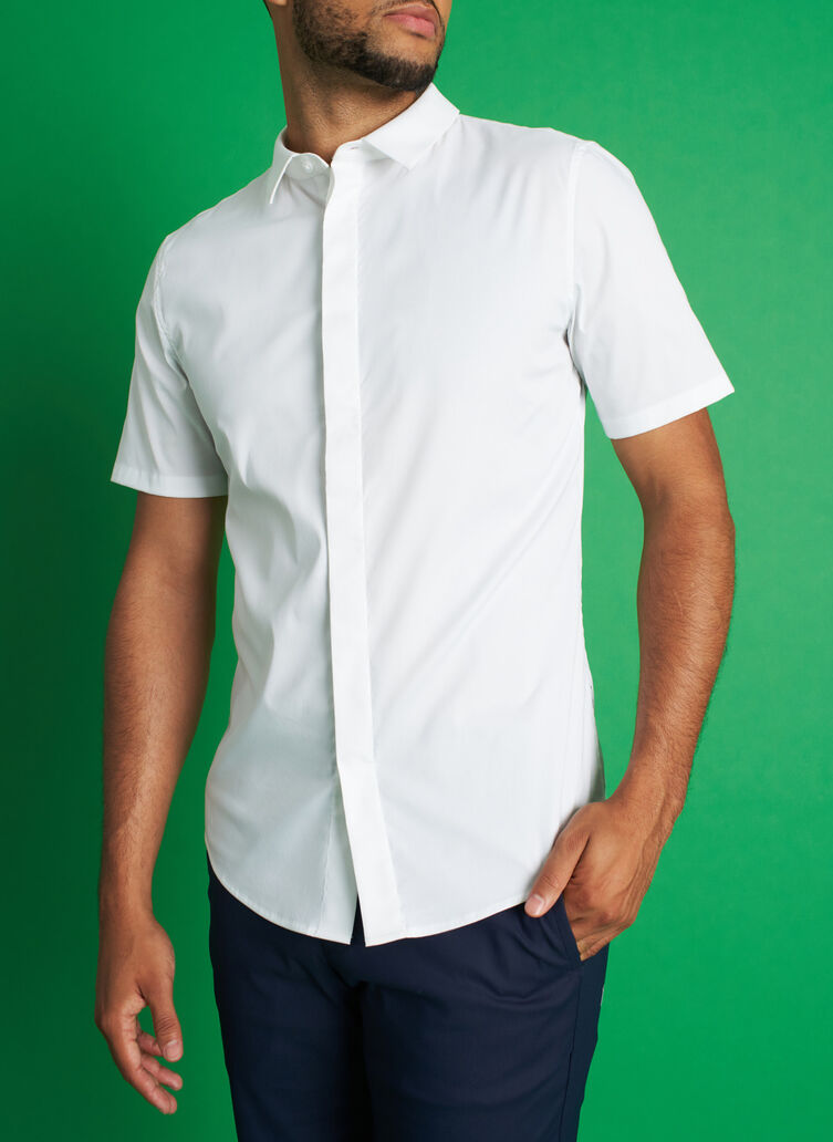 Stay Cool Short Sleeve Shirt, Bright White | Kit and Ace