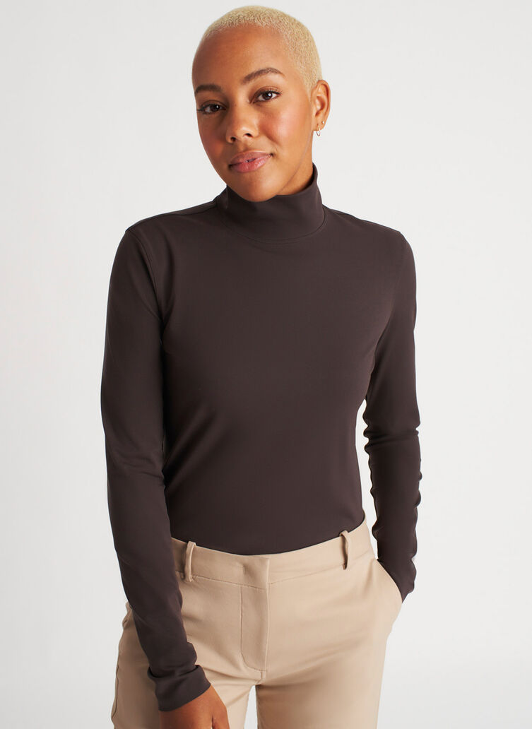 Base Long Sleeve Turtleneck, After Dark | Kit and Ace