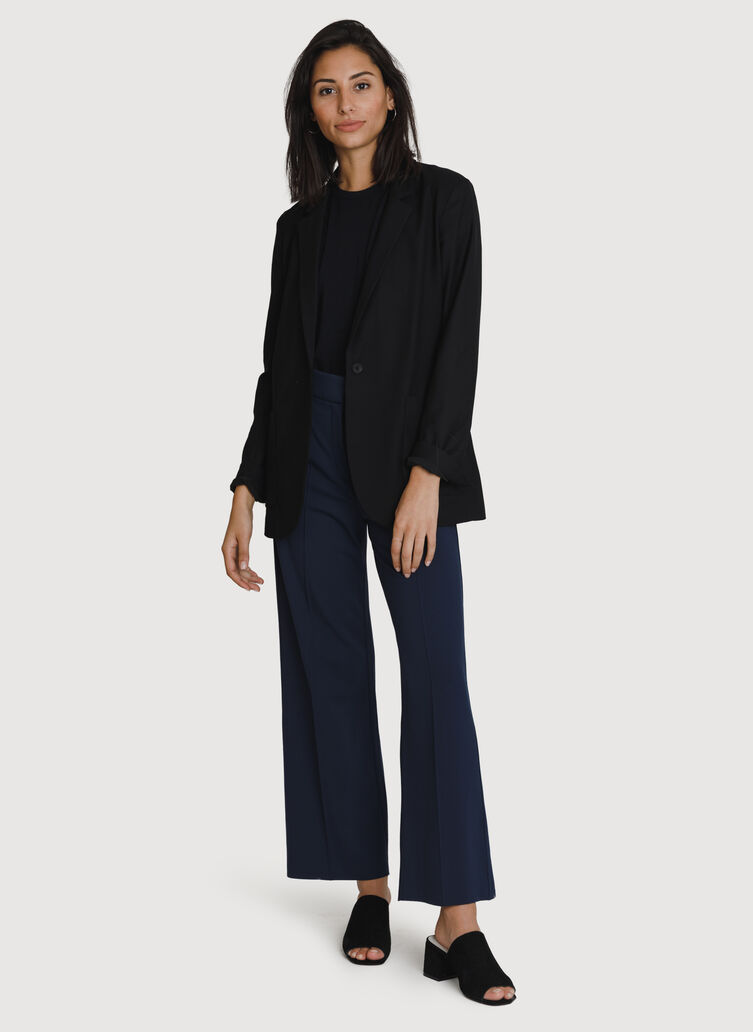 Coastline Wide Leg Trouser *Light, Deep Navy | Kit and Ace
