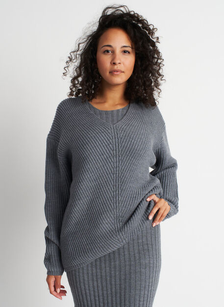 Cloud Merino Sweater, Heather Grey | Kit and Ace