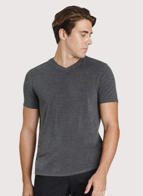 Ace V-Neck Tee, Heather Charcoal | Kit and Ace