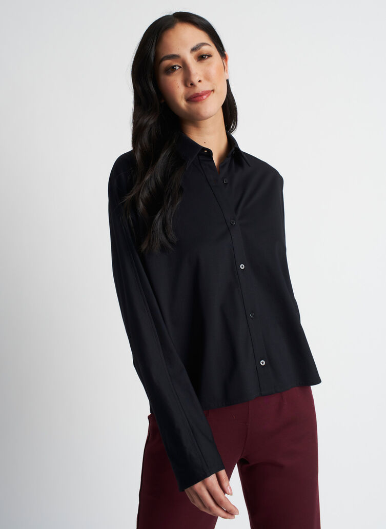 Around Town Blouse, Black | Kit and Ace