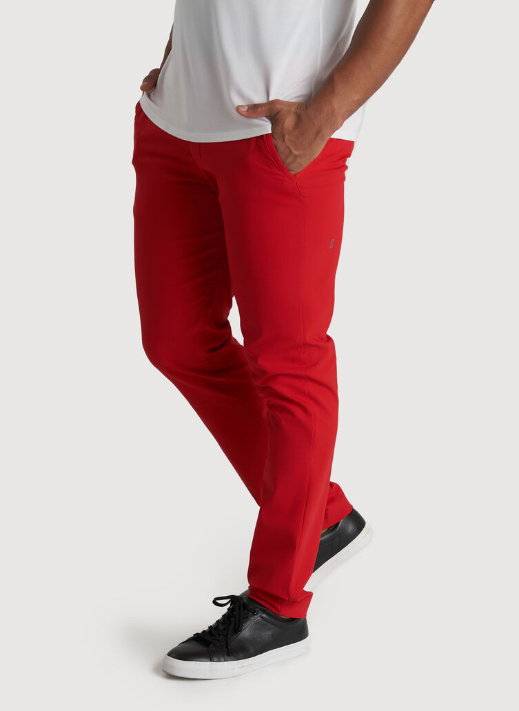 Commute Pants Slim Fit | Navigator Collection, Crimson | Kit and Ace