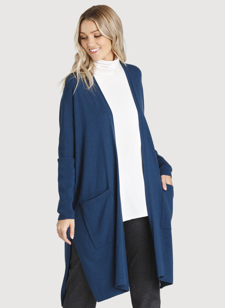 Long Haul Cardigan, Dark Denim | Kit and Ace