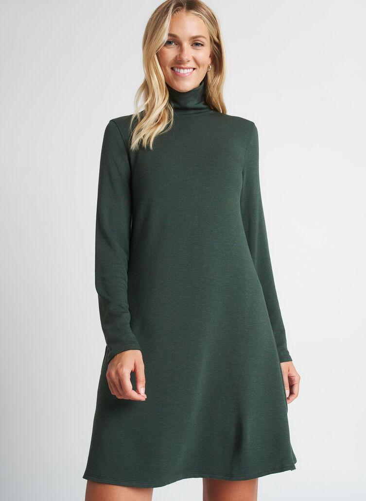 Upgrade Brushed Dress, Heather Forest | Kit and Ace