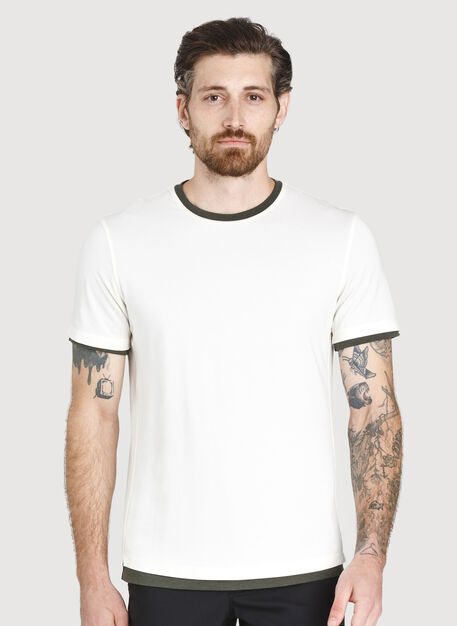 Ace Reversible Short Sleeve Tee, Ecru/Ivy | Kit and Ace