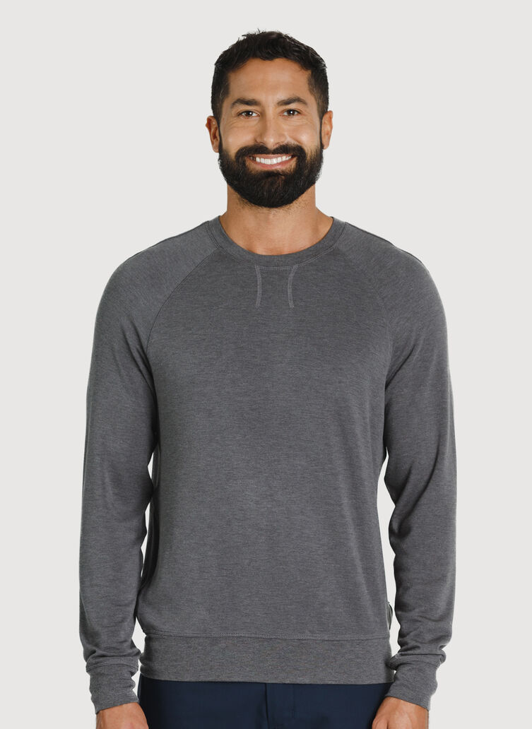 Chillin Pullover, HTHR Charcoal | Kit and Ace
