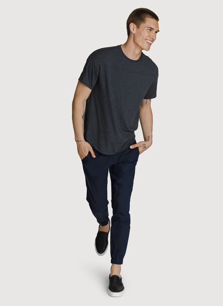 Lightweight Crew, HTHR Charcoal | Kit and Ace
