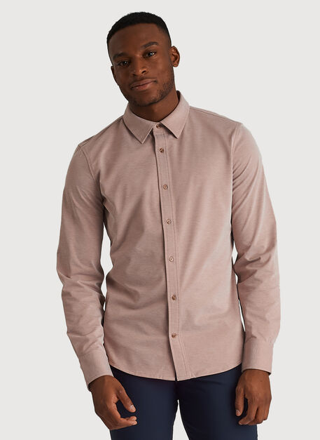 City Tech Long Sleeve Shirt, Glazed Ginger Chambray | Kit and Ace