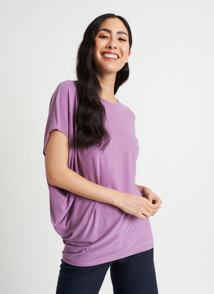 Wave Tee, Grape | Kit and Ace