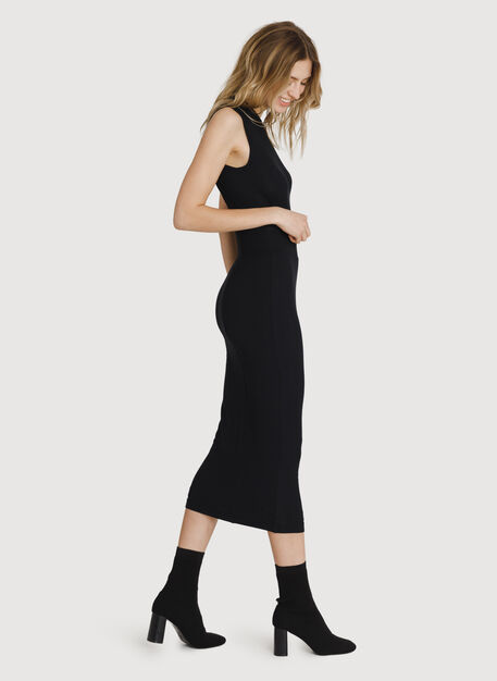 Seaside Long and Lean Pencil Skirt, BLACK | Kit and Ace