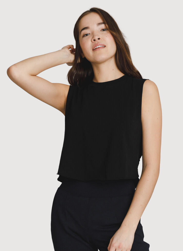 Cut To The Chase Tank, BLACK | Kit and Ace