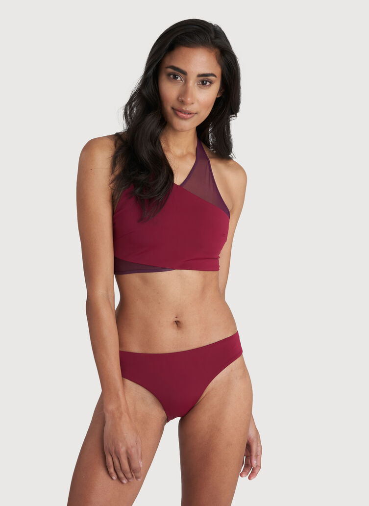 Beach Please Swim Top, Cranberry | Kit and Ace