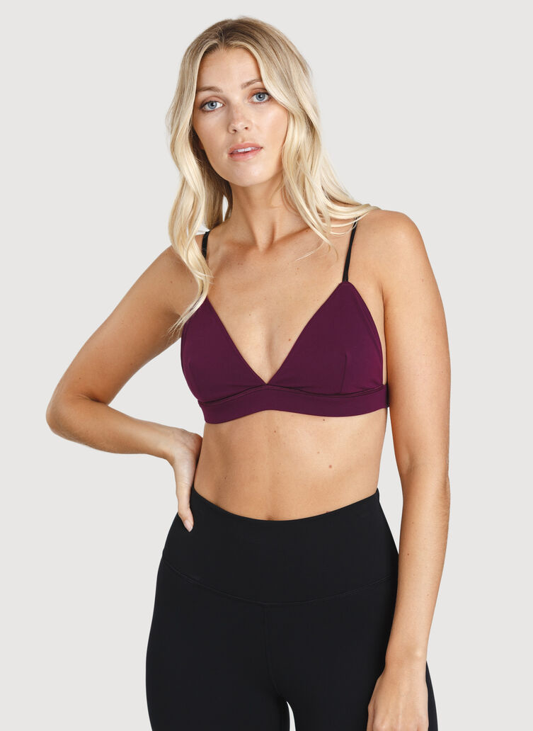The Base Bralette, Dark Plum | Kit and Ace