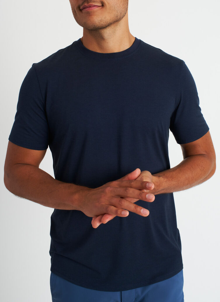 Ace Crewneck Tee, Dark Navy | Kit and Ace