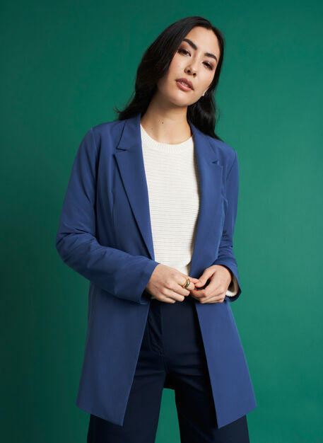 Featherlight Packable Blazer, Dark Denim | Kit and Ace