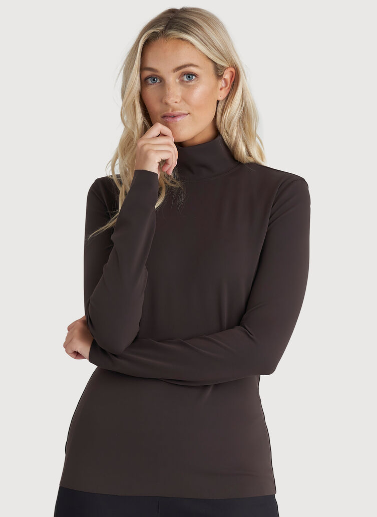 The Base Long Sleeve Turtleneck, After Dark | Kit and Ace