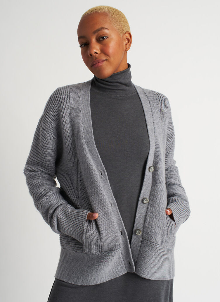 Ash Cardigan, Heather Grey | Kit and Ace