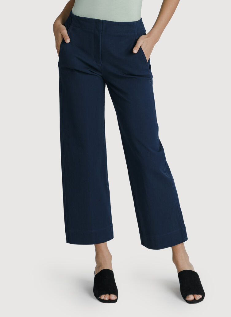 Coast to Coast Wide Leg Trouser, Deep Navy | Kit and Ace