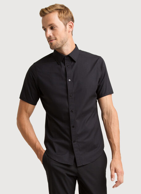 Blueprint Short Sleeve Button Up, BLACK | Kit and Ace