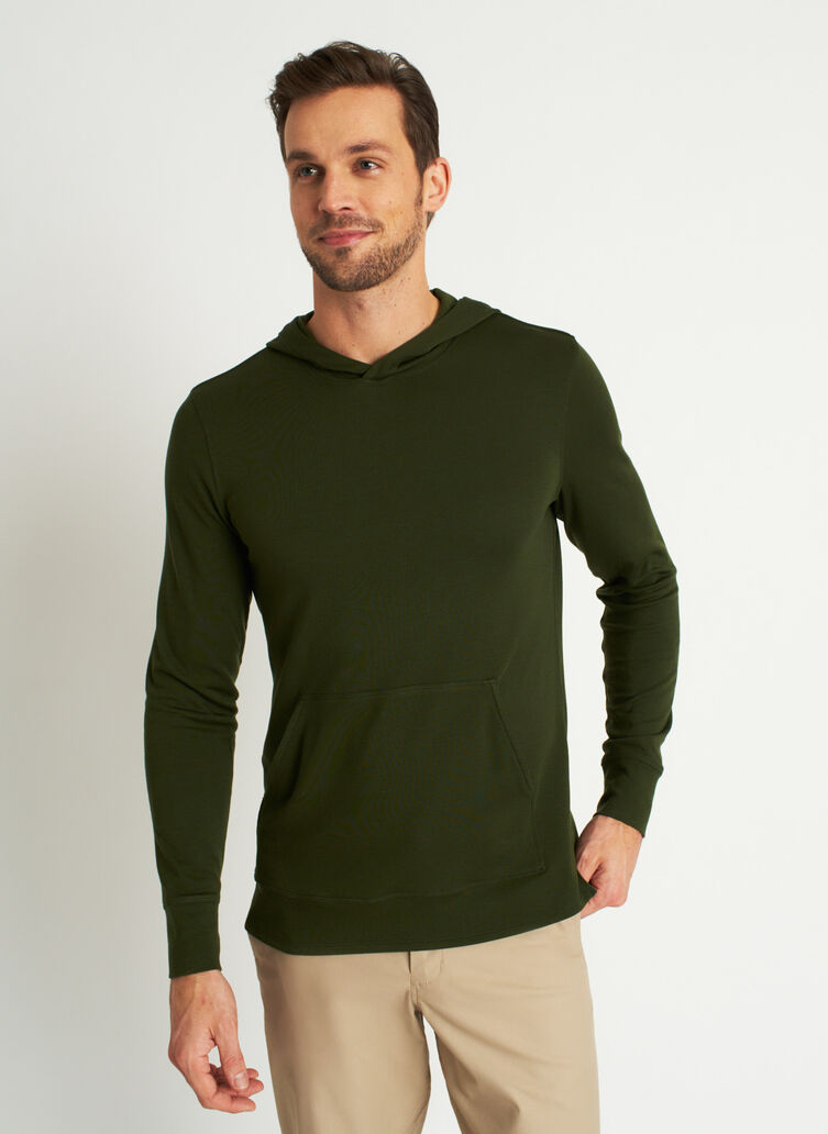 Brushed Pullover Hoodie, Grove Green | Kit and Ace