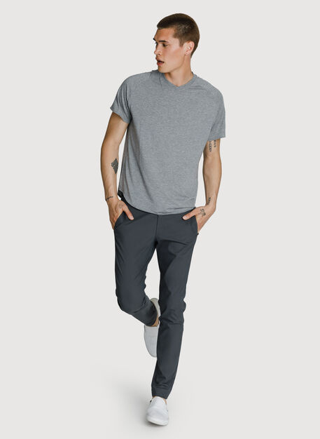 Lightweight V Tee, HTHR GREY | Kit and Ace
