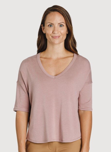 Easy Tee, HTHR Fawn | Kit and Ace