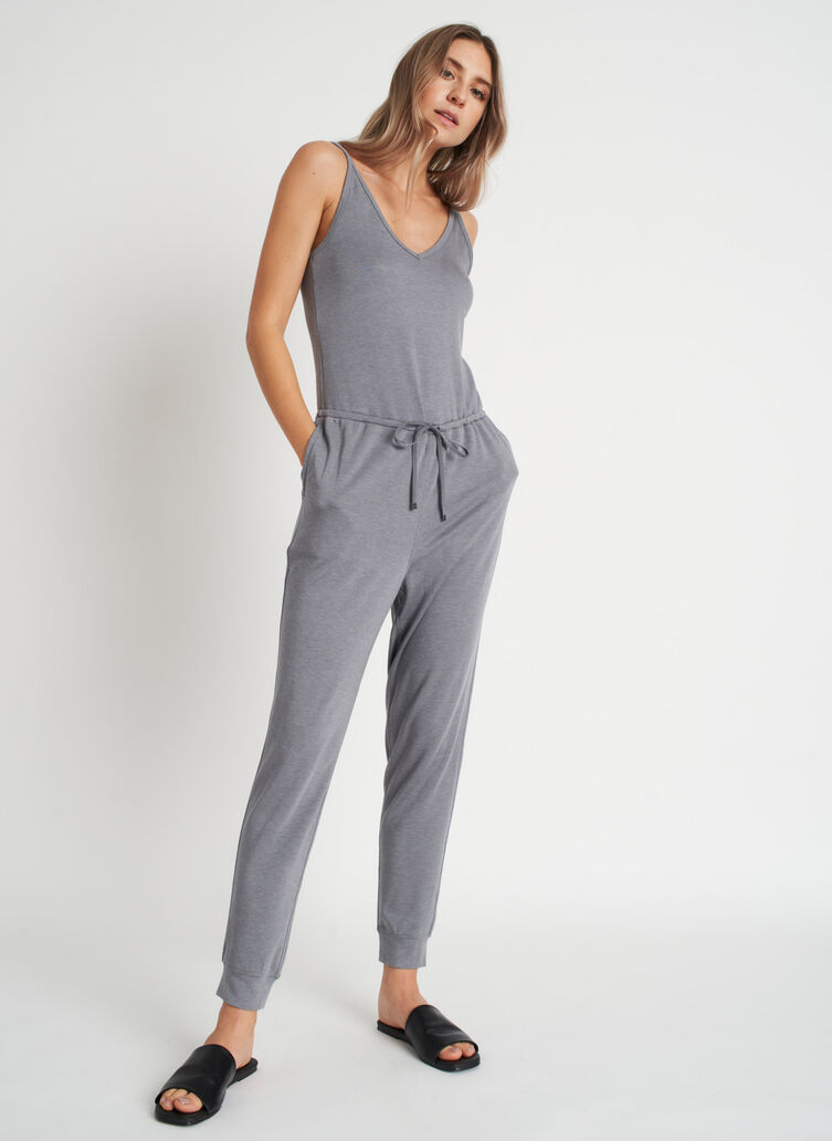 Good Feels Brushed Jumpsuit, Heather Shade | Kit and Ace