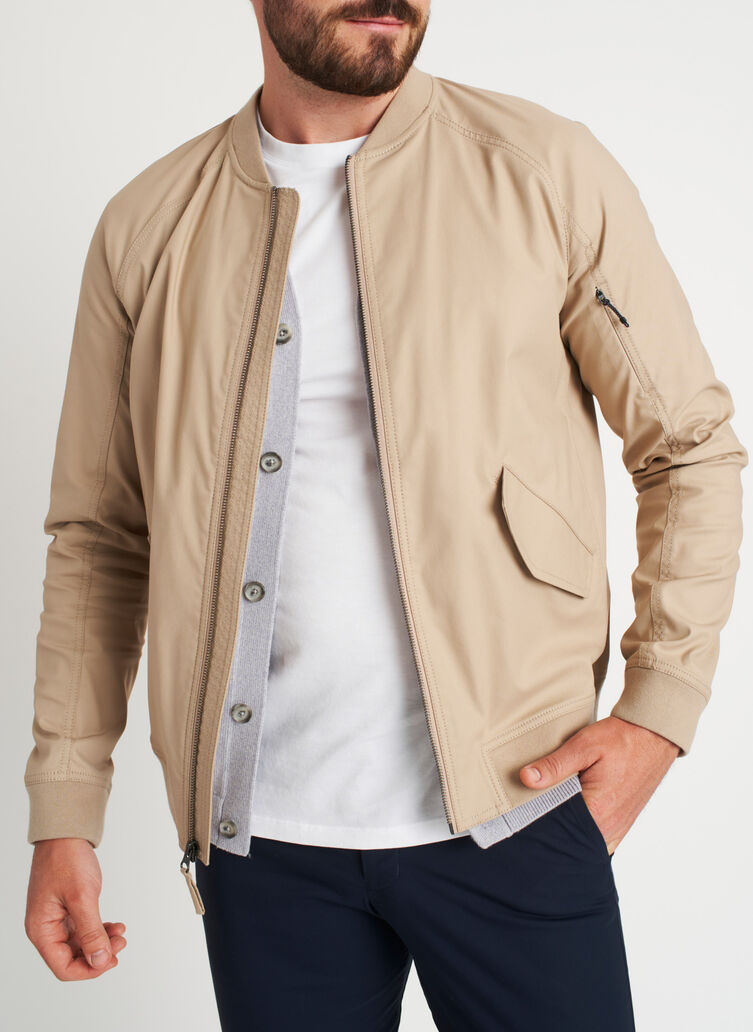 Full Potential Bomber Jacket, Driftwood | Kit and Ace