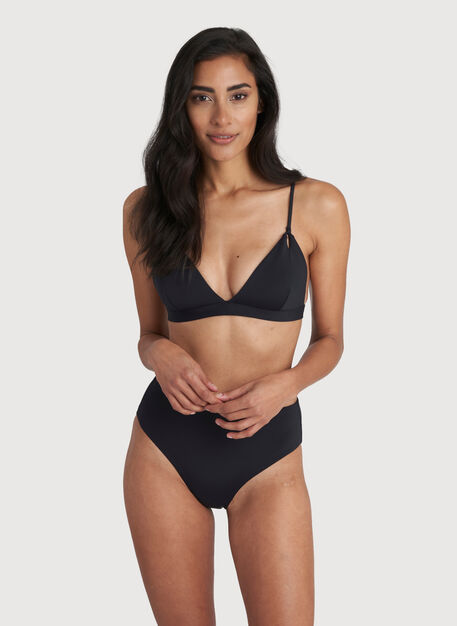 Pool Side Swim Top, Black | Kit and Ace