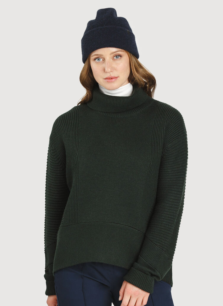 Ash Turtleneck Sweater, Deep Forest | Kit and Ace