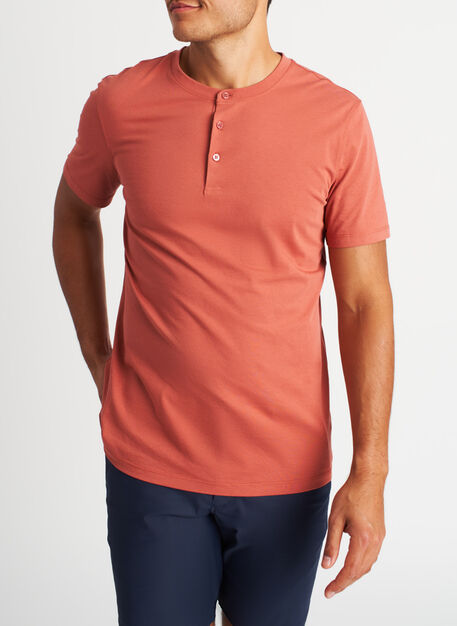 Ace Pima Henley Tee, Ember | Kit and Ace