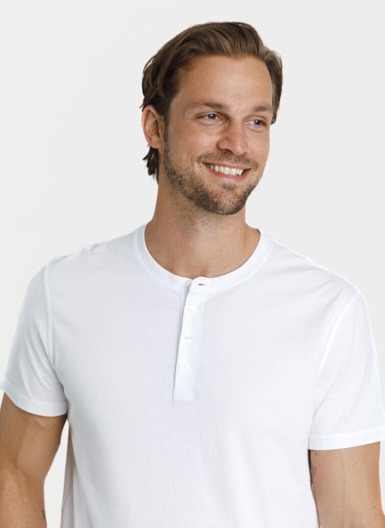 Ace Pima Henley Tee, Bright White | Kit and Ace