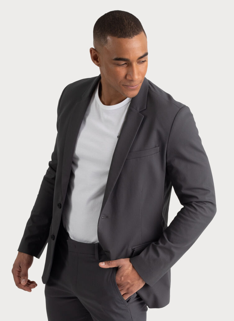 Navigator Stretch Blazer 2.0, Charcoal | Kit and Ace