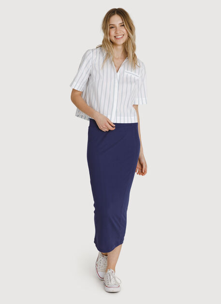Seaside Long and Lean Pencil Skirt, Eclipse | Kit and Ace