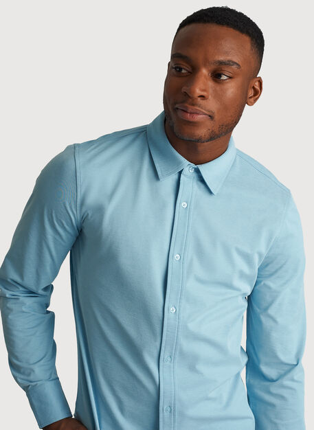 City Tech Long Sleeve Shirt, Blue Moon Chambray | Kit and Ace