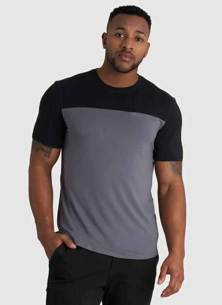 Ace Pocket Crewneck Tee, Shade/Black | Kit and Ace