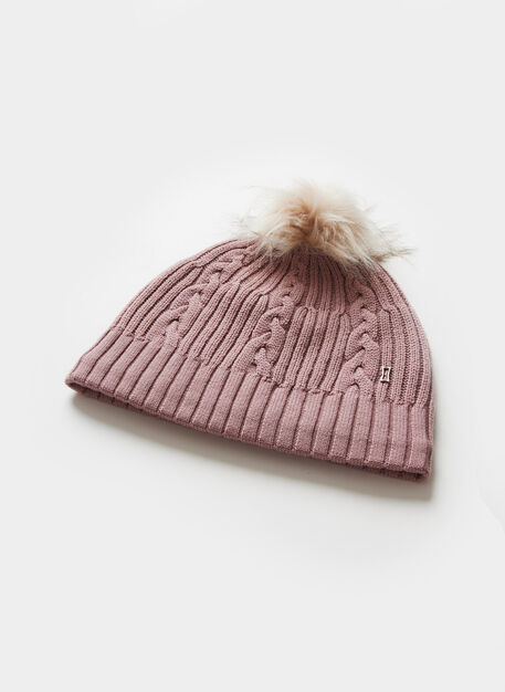 Cableknit Merino Toque, Light Rose | Kit and Ace