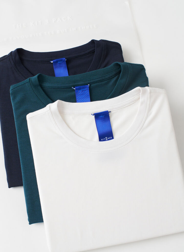 Kit Crew 3 Pack, Dark Navy/Bright White/Deep Teal | Kit and Ace