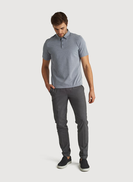 City Tech Polo, DK Navy Chambray | Kit and Ace