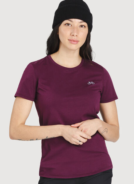 Movement Crew Tee, Dark Plum | Kit and Ace