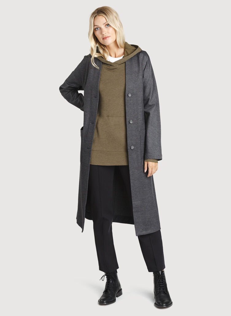 Coastline Coat, Charcoal Melange | Kit and Ace